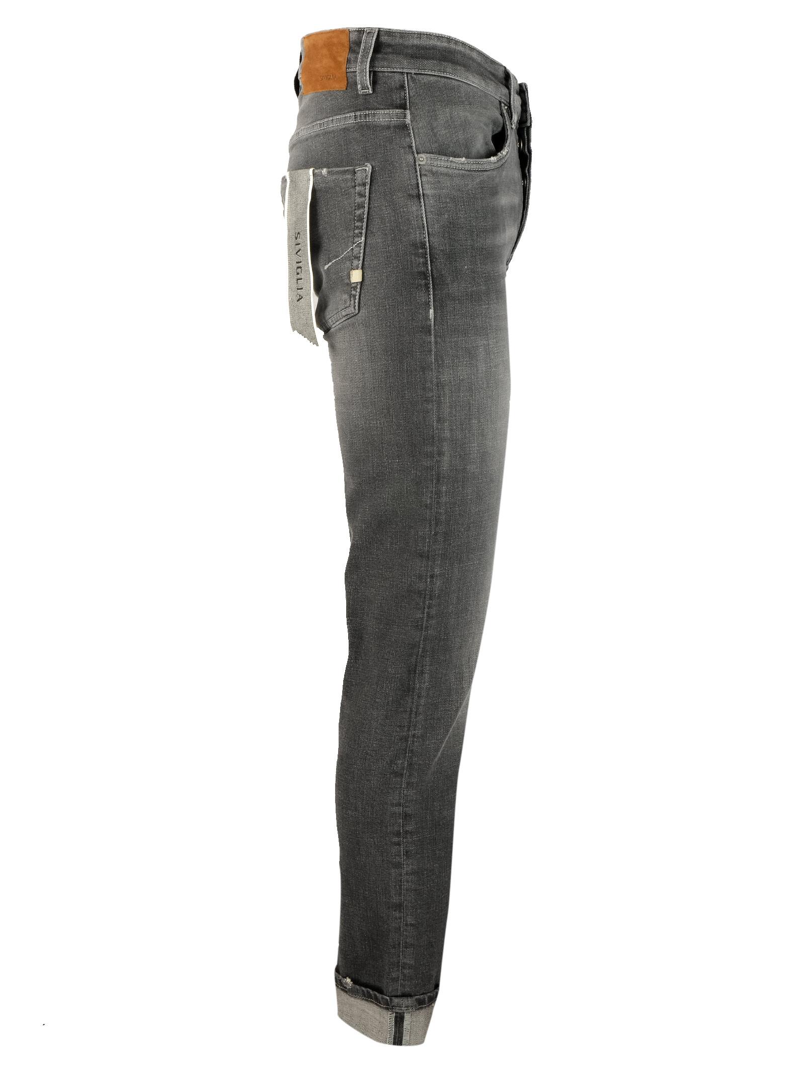 10oz. gray jeans SIVIGLIA | Trousers | MQ2001 801809002