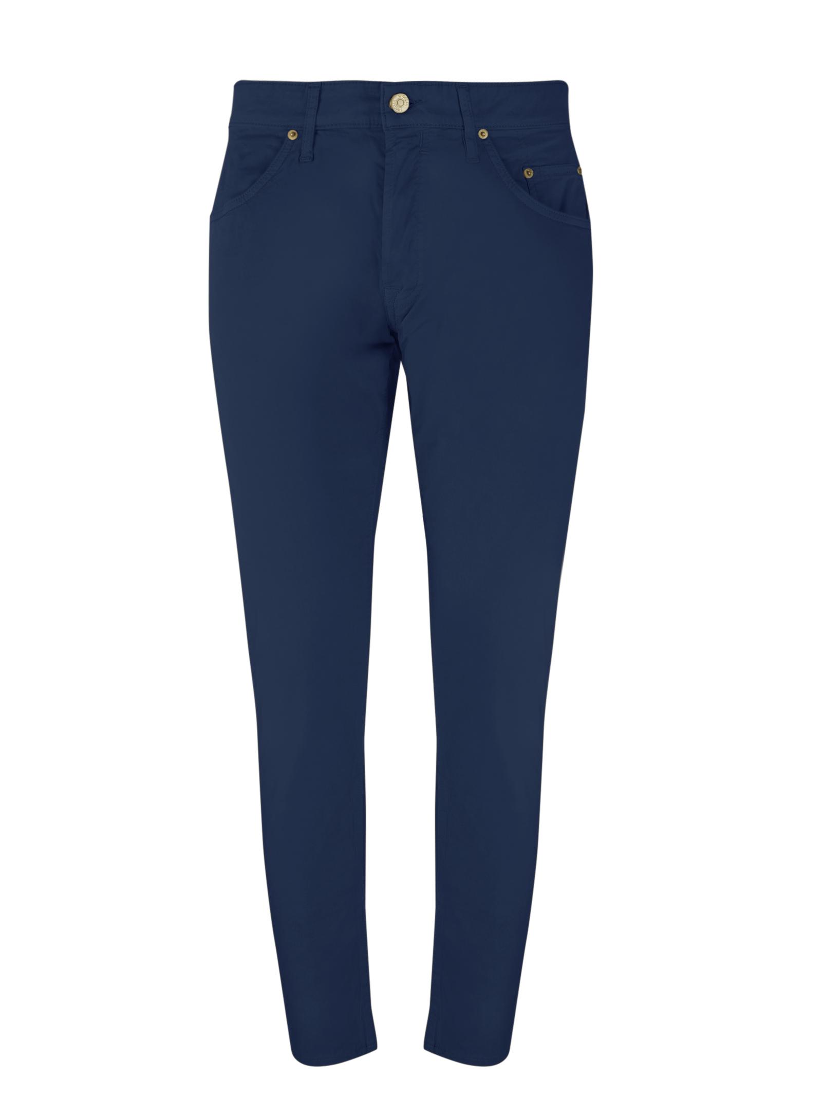 5 pocket light cotton pants,button fly SIVIGLIA | Trousers | MQ2002 80230705
