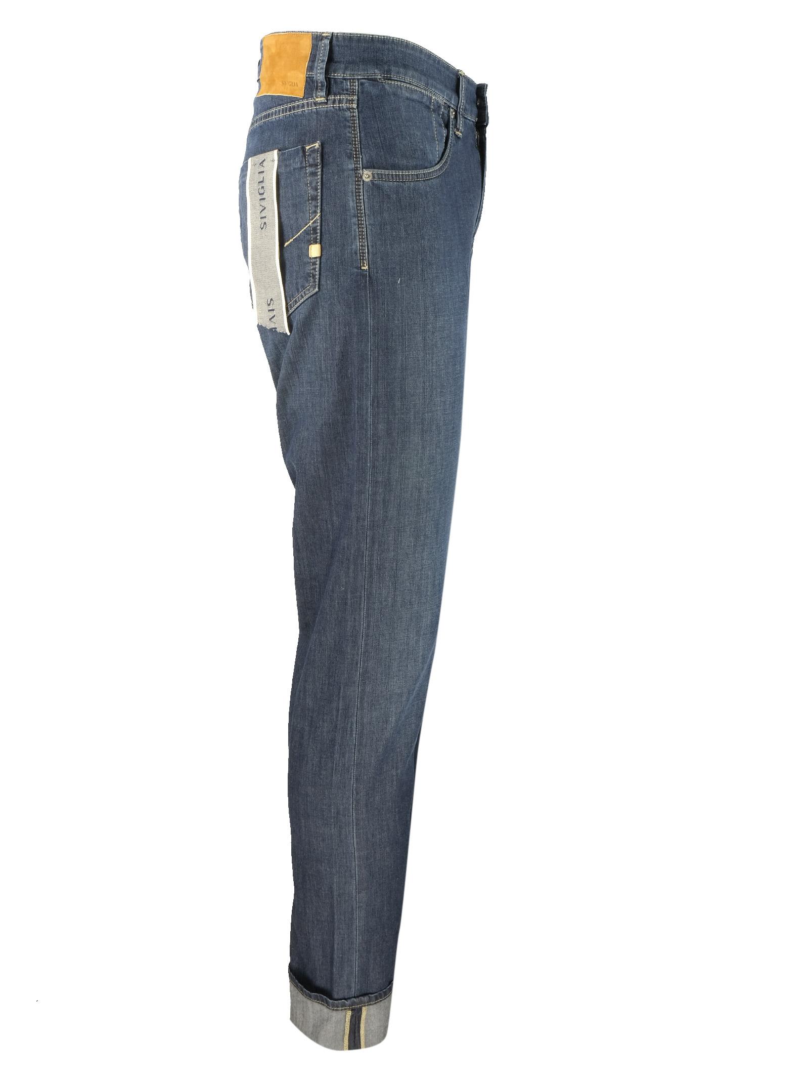 dark  bleached 10oz. jeans SIVIGLIA | Trousers | MQ2004 801506002