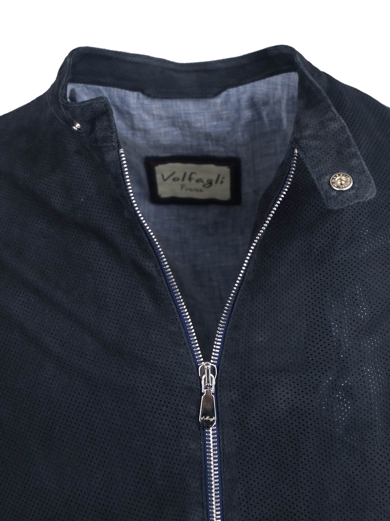 MICRO PERFORATED SUPERFINE SUEDE JACKET SLIM FIT Volfagli | Jackets | CRACCO QBLU