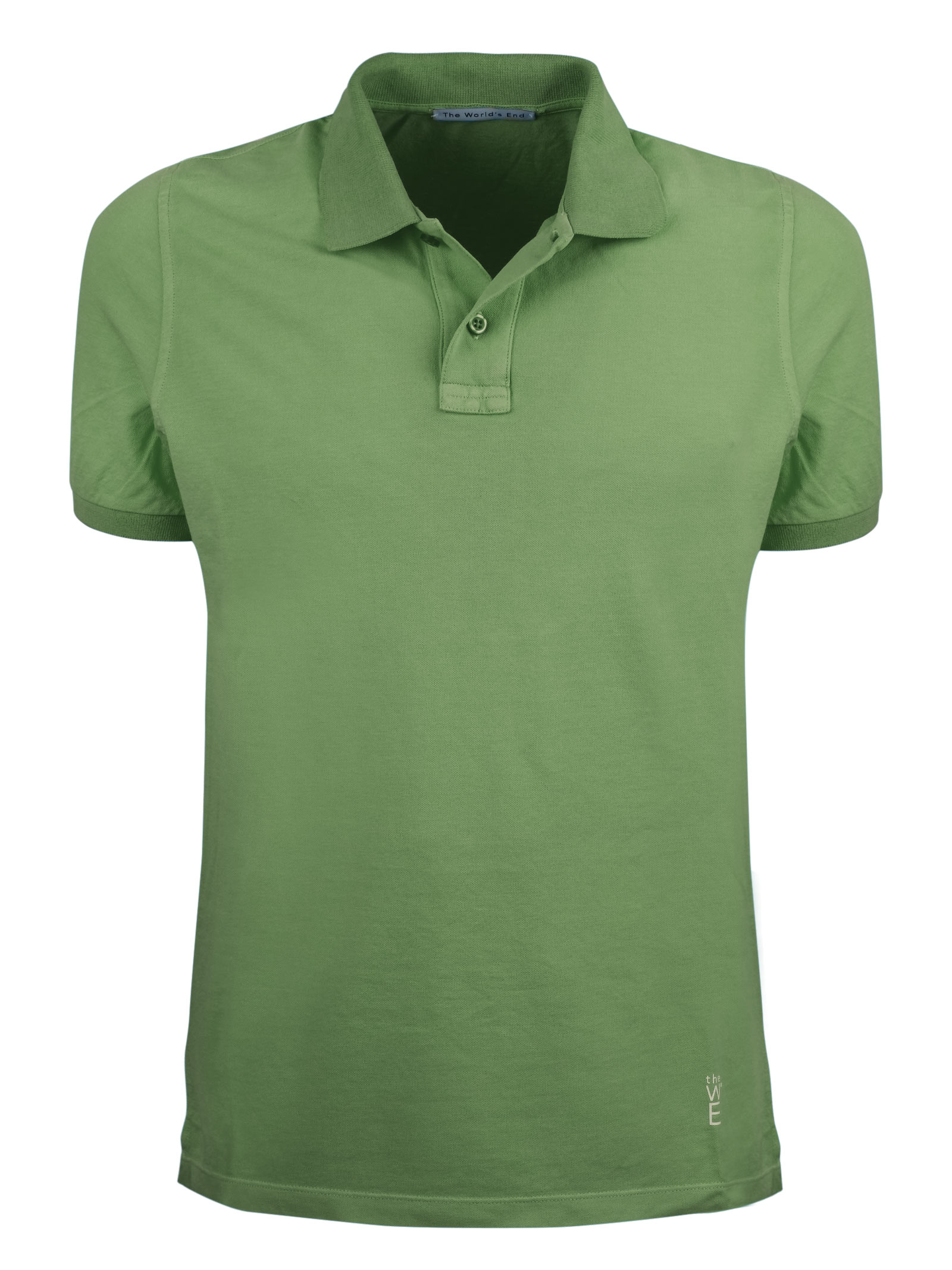 Short sleeves polo, two buttons garment dyed. THE WORLD END   Polos   100224