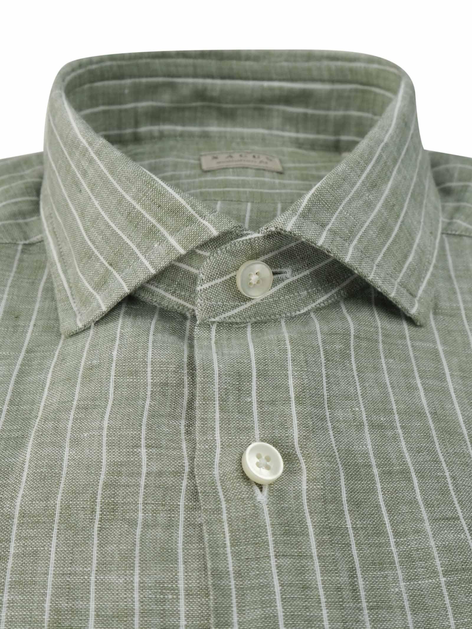 Camicia in lino a righe XACUS | Camicie | 848 81225018