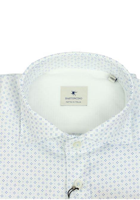 Camicia slim in cotone microfantasia BASTONCINO | Camicie | SIMO1657