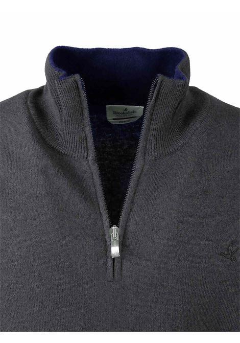 Half zip sweater  100% lambswool BROOKSFIELD | Knitwear | 203E K0030117