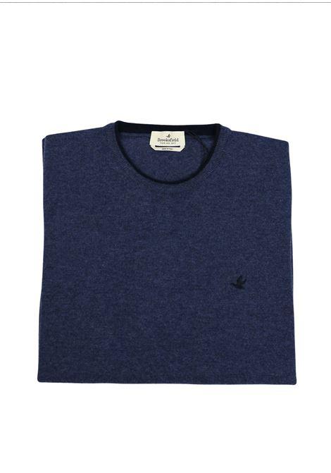 Crew neck lambswool sweater  tipped collar BROOKSFIELD | Knitwear | 203E K015119