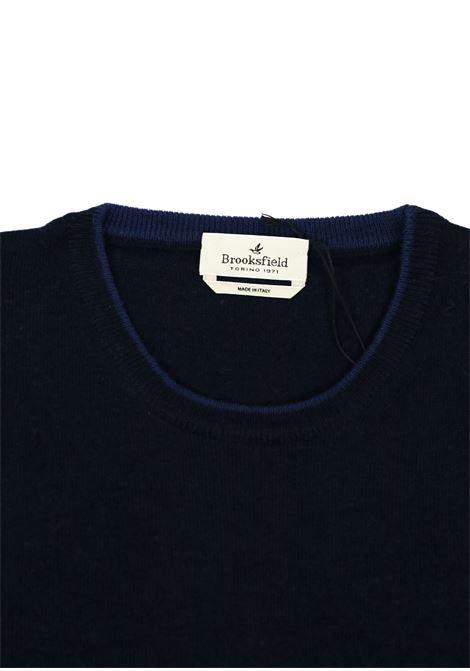 Crew neck lambswool sweater  tipped collar BROOKSFIELD | Knitwear | 203E K015123