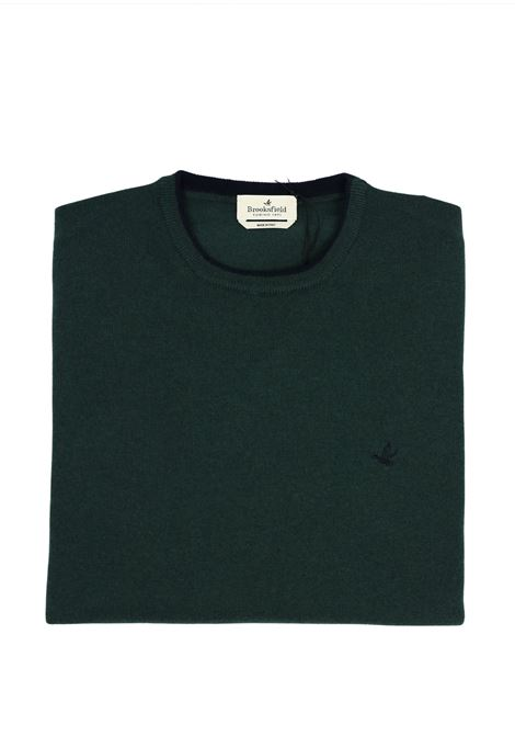 Crew neck lambswool sweater  tipped collar BROOKSFIELD | Knitwear | 203E K015124