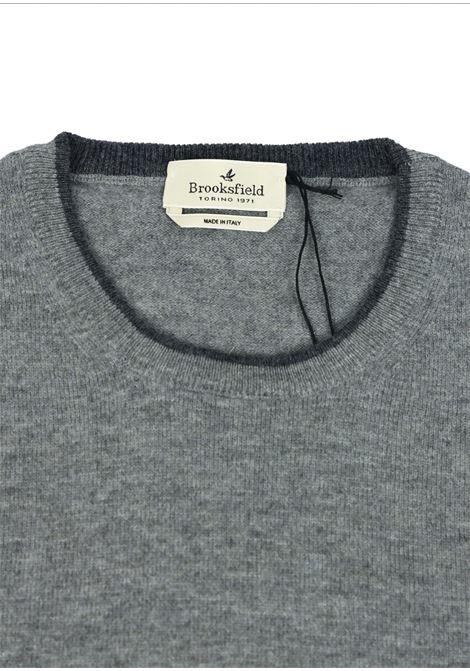 Crew neck lambswool sweater  tipped collar BROOKSFIELD | Knitwear | 203E K015139