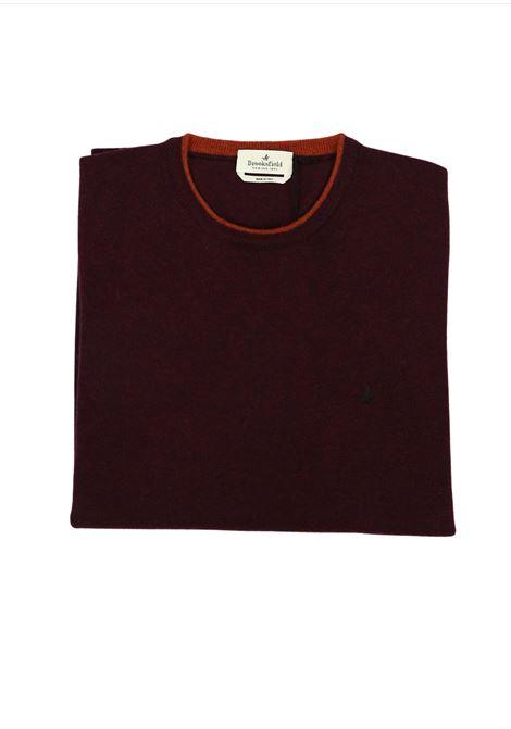 Crew neck lambswool sweater  tipped collar BROOKSFIELD | Knitwear | 203E K015143