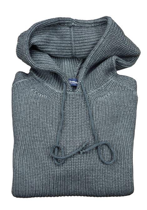 pullover in lana merino con cappuccio DRUMOHR | Maglieria | D5M220PA675