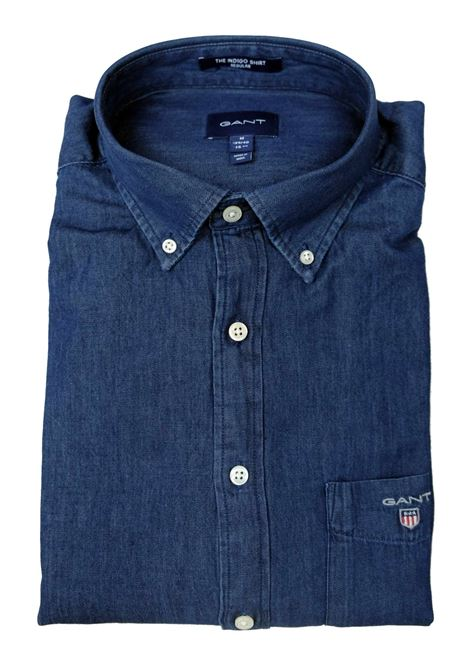 camicia jeans button down GANT | Camicie | 3040520989