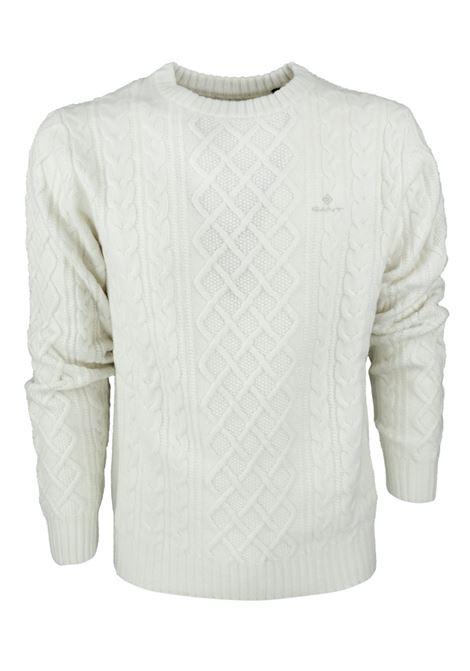 ROUNDNECK PULLOVER GANT | Knitwear | 8000121116