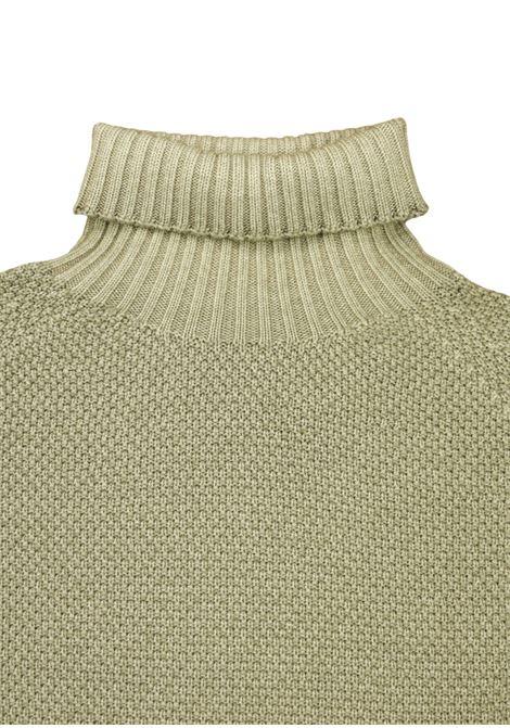 maglia collo alto grana riso in merino effetto brinato H953 | Maglieria | 294113