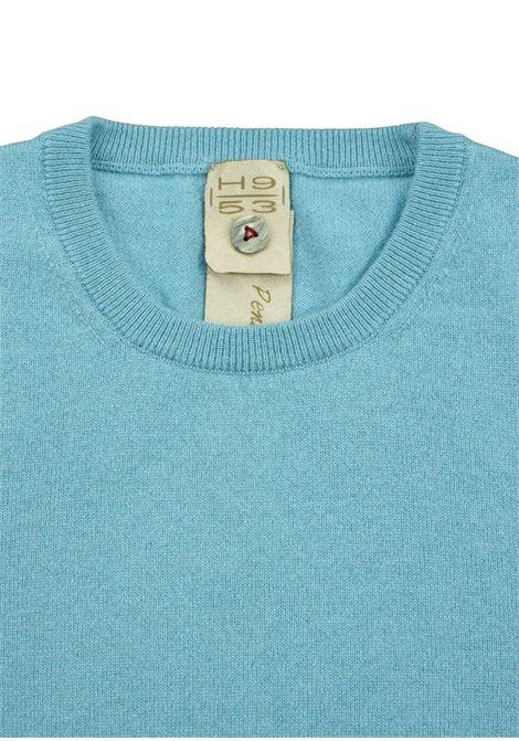 Pullover girocollo in cashmere 100%  due fili H953 | Maglieria | 299768