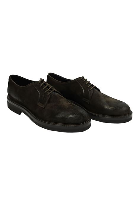 WAXED SUEDE LACED SHOES  ORTIGNI | Shoes | 3201 595 BLACKPEPE
