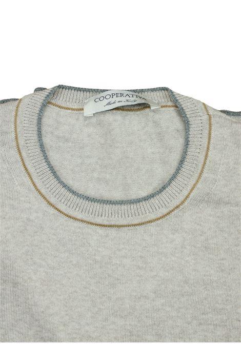 maglia girocollo in lana merino Pescatori Posillipo | Maglieria | 631BEIGE