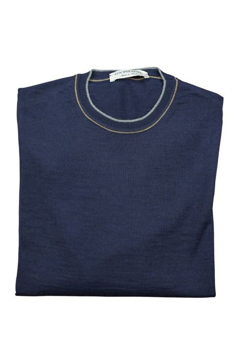 maglia girocollo in lana merino Pescatori Posillipo | Maglieria | 631FONDALE