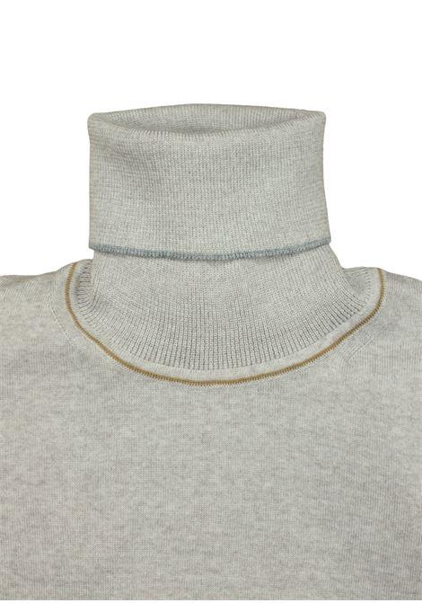 dolcevita in lana merino Pescatori Posillipo | Maglieria | 635BEIGE