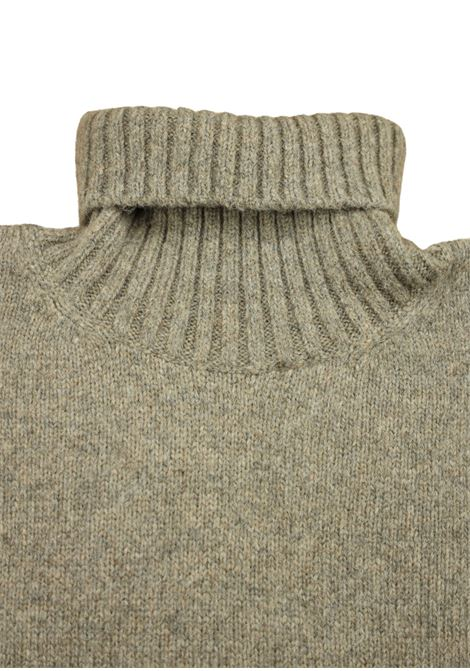 maglia girocollo in lana/cashmere 3 fili Pescatori Posillipo | Maglieria | 639CACAO