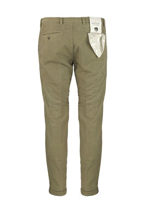 Pantalone slim fit in velluto armaturato AT.P.CO. | Pantaloni | SASA45ITC309830
