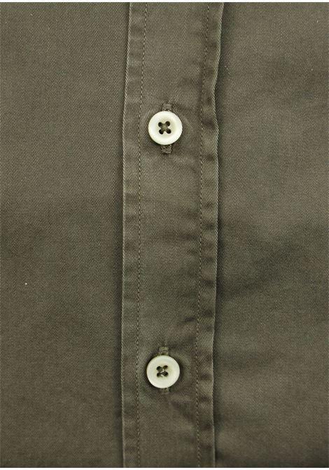 Garment dyed  , cotton twill shirt, regular fit BASTONCINO | Shirts | SARTB1379 04