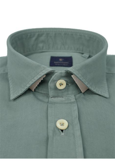 Garment dyed  , cotton twill shirt, regular fit BASTONCINO | Shirts | SARTB1379 07