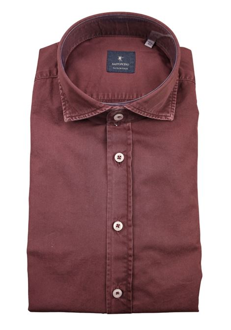 Garment dyed  , cotton twill shirt, regular fit BASTONCINO | Shirts | SARTB1379 10