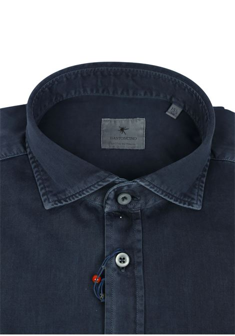 Garment dyed  , cotton twill shirt, regular fit BASTONCINO | Shirts | SARTB1379 12