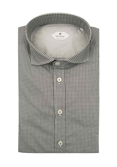 Printed shirt , regular fit , soft collar washed and softened BASTONCINO | Shirts | SARTB1998