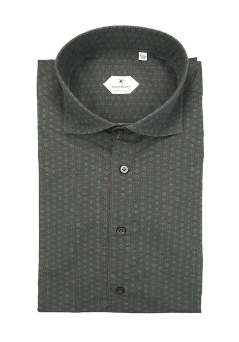 Printed shirt , regular fit , soft collar washed and softened BASTONCINO | Shirts | SARTB2002 00