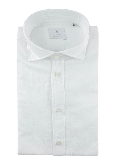 Camicia tinto in capo delavè, in twill di cotone vestibilità semi slim , BASTONCINO | Camicie | SIMOB1379 01