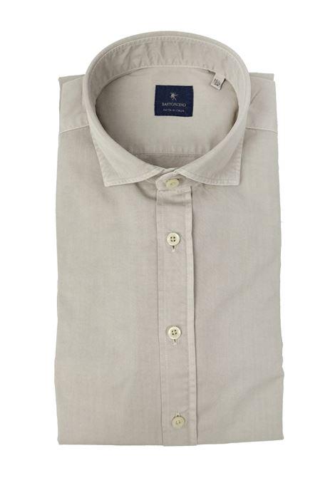 Camicia tinto in capo delavè, in twill di cotone vestibilità semi slim BASTONCINO | Camicie | SIMOB1379 03