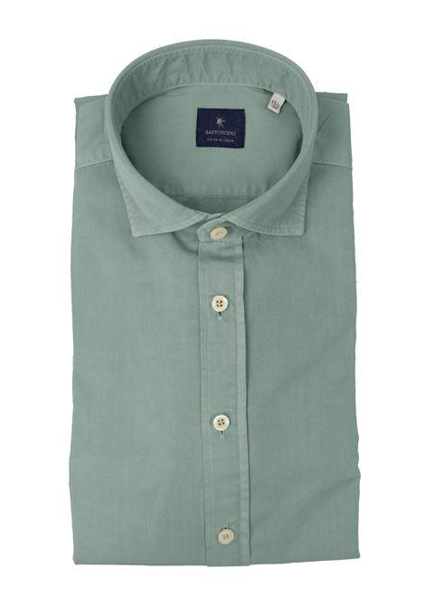 Camicia tinto in capo delavè, in twill di cotone vestibilità semi slim BASTONCINO | Camicie | SIMOB1379 07