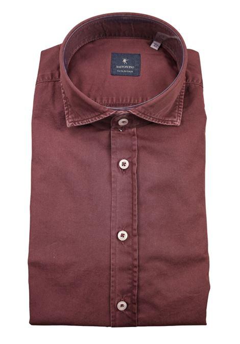 Camicia tinto in capo delavè, in twill di cotone vestibilità semi slim BASTONCINO | Camicie | SIMOB1379 10