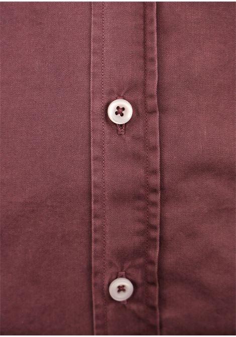 Garment dyed  , cotton twill shirt,semi slim fit BASTONCINO | Shirts | SIMOB1379 10