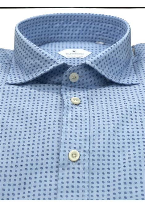 Printed shirt , semi slim fit , soft collar washed and softened BASTONCINO | Shirts | SIMOB1963 01