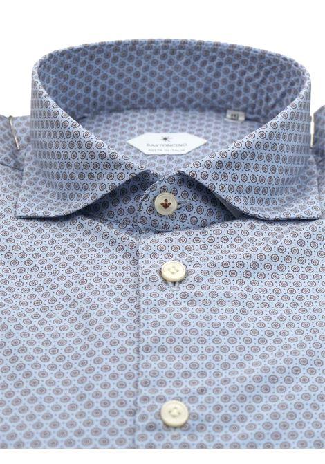 Printed shirt , semi slim fit , soft collar washed and softened BASTONCINO | Shirts | SIMOB1966 02