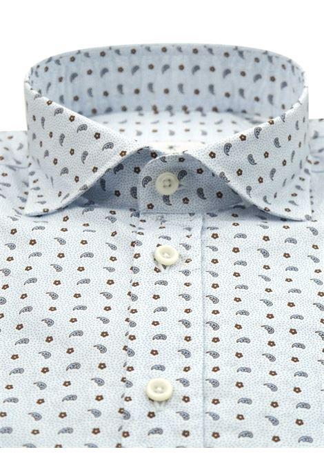 Printed shirt , semi slim fit , soft collar washed and softened BASTONCINO | Shirts | SIMOB1970