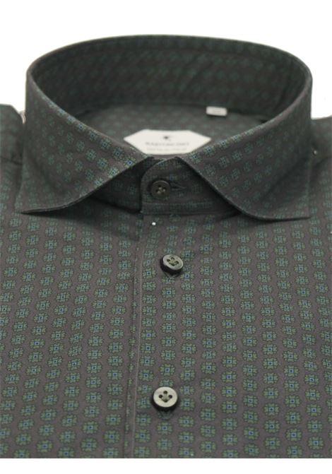Printed shirt , semi slim fit , soft collar washed and softened BASTONCINO | Shirts | SIMOB2002