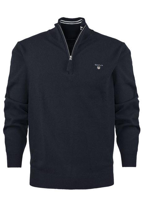 Pullover con zip corta GANT | Maglieria | 086213410