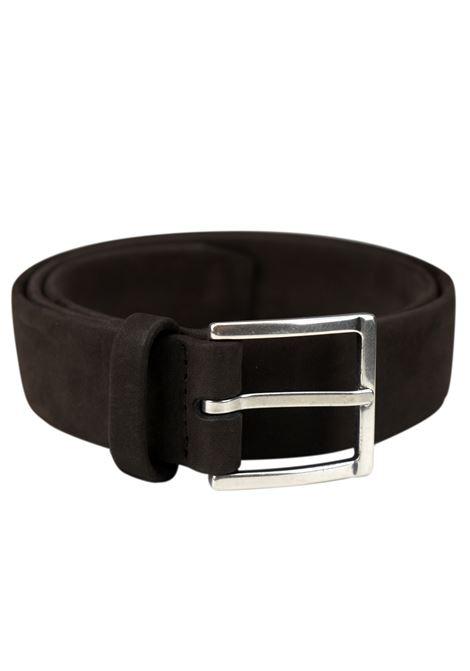 Long Beach belt in nubuck leather ORCIANI   Belts   7550MORO