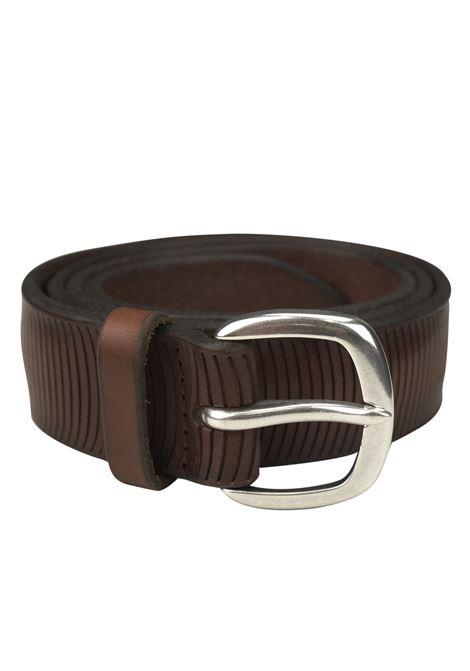 Laser-cut leather belt ORCIANI   Belts   8040BRUCIATO