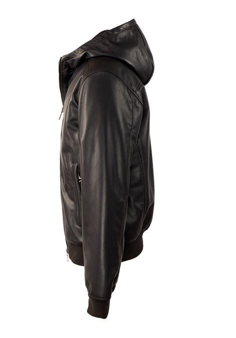 Giubbotto in pelle con cappuccio ORCIANI | Giacconi | CUO163MORO