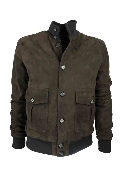 Bomber jacket in suede with buttons Volfagli | Jackets | CEFALUMORO