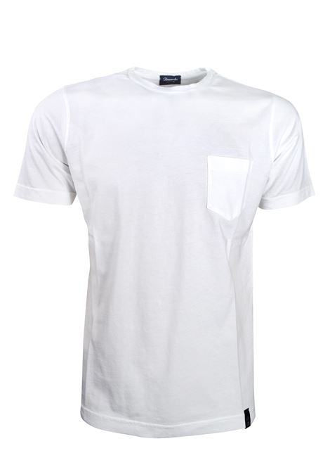 T-SHIRT CON TASCHINO IN COTONE EXTRA LIGHT DRUMOHR | T- shirt | DTJF000100