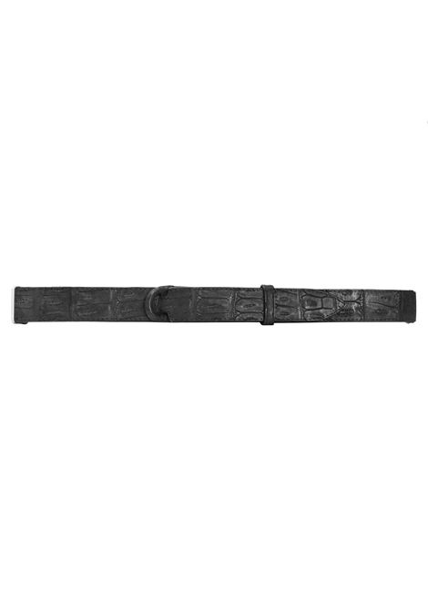 CINTURA NO BUCKLE IN COCCODRILLO NO BUCKLE by Orciani | Cinture | 31NERO