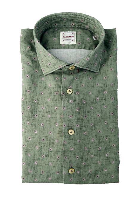 Camicia in lino con microstampa ALEX INGH | Camicie | 657702