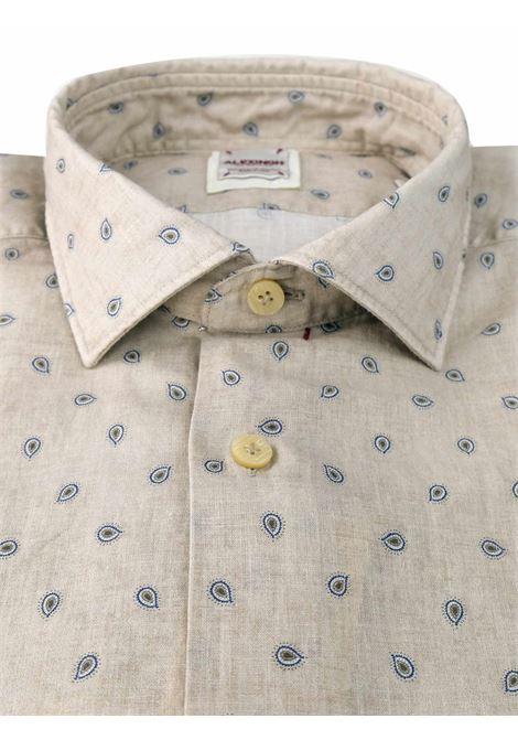 Camicia in lino con microstampa ALEX INGH | Camicie | 657704