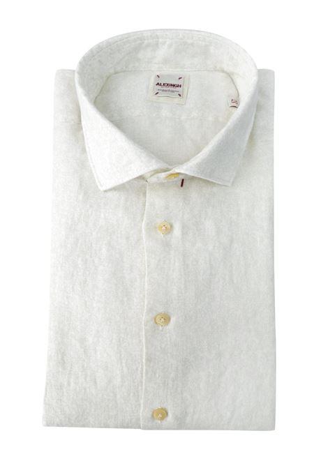 Camicia in lino fantasia tono su tono ALEX INGH | Camicie | 660301