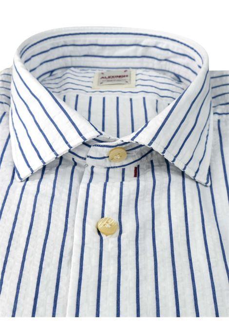 Camicia in lino a righe ALEX INGH | Camicie | 956202